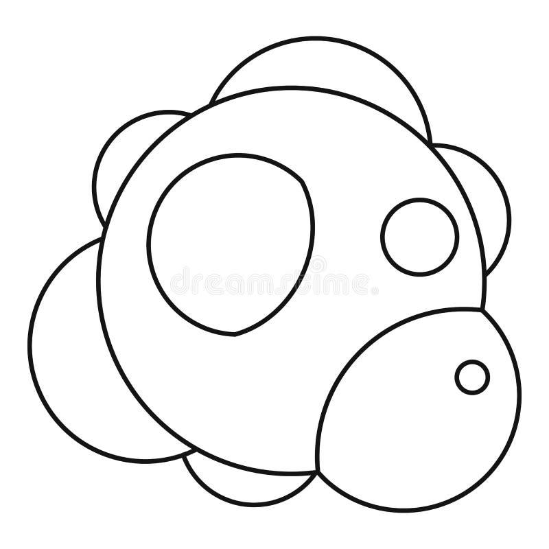 Icono de la molécula, estilo del esquema stock de ilustración