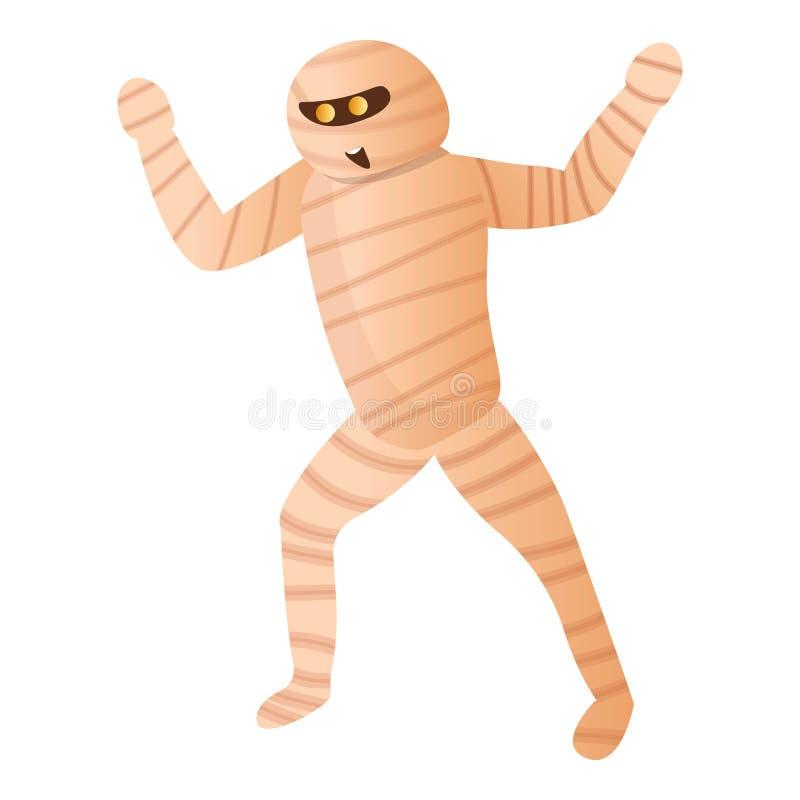 Icono de la momia, estilo de la historieta stock de ilustración