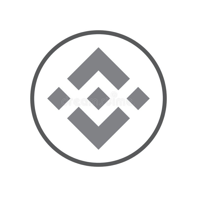 Icono de la moneda de Binance ejemplo del diseño del vector del criptocurrency ilustración del vector