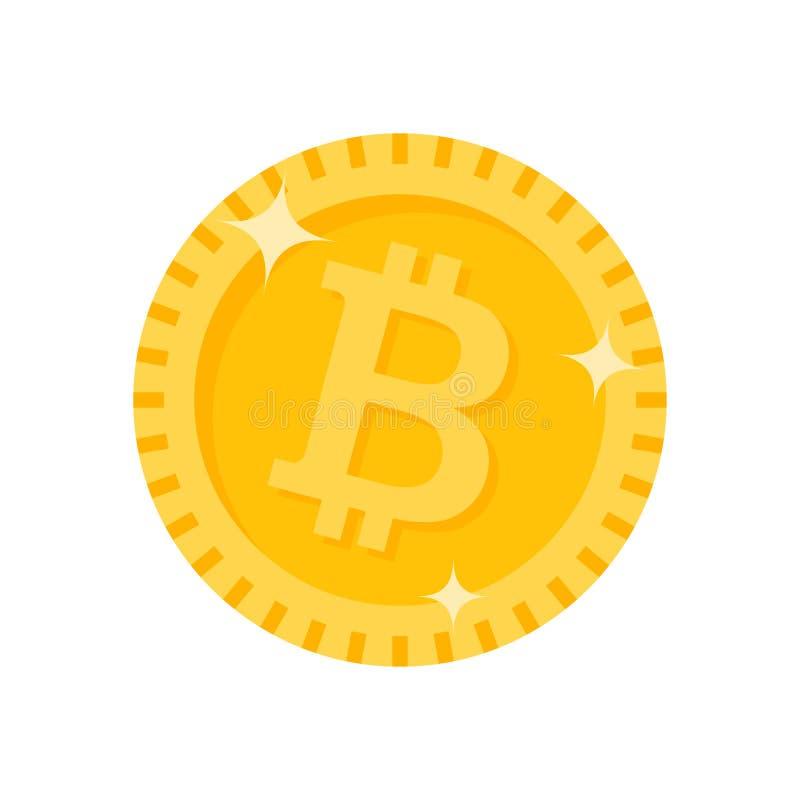 Icono de la moneda del cryptocurrency de Bitcoin Ilustración del vector stock de ilustración