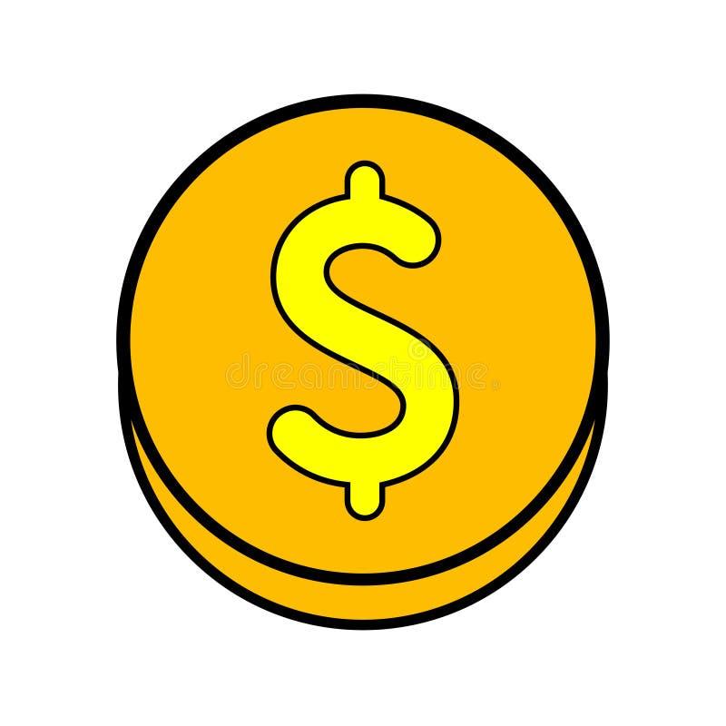 Icono de la moneda del dólar libre illustration