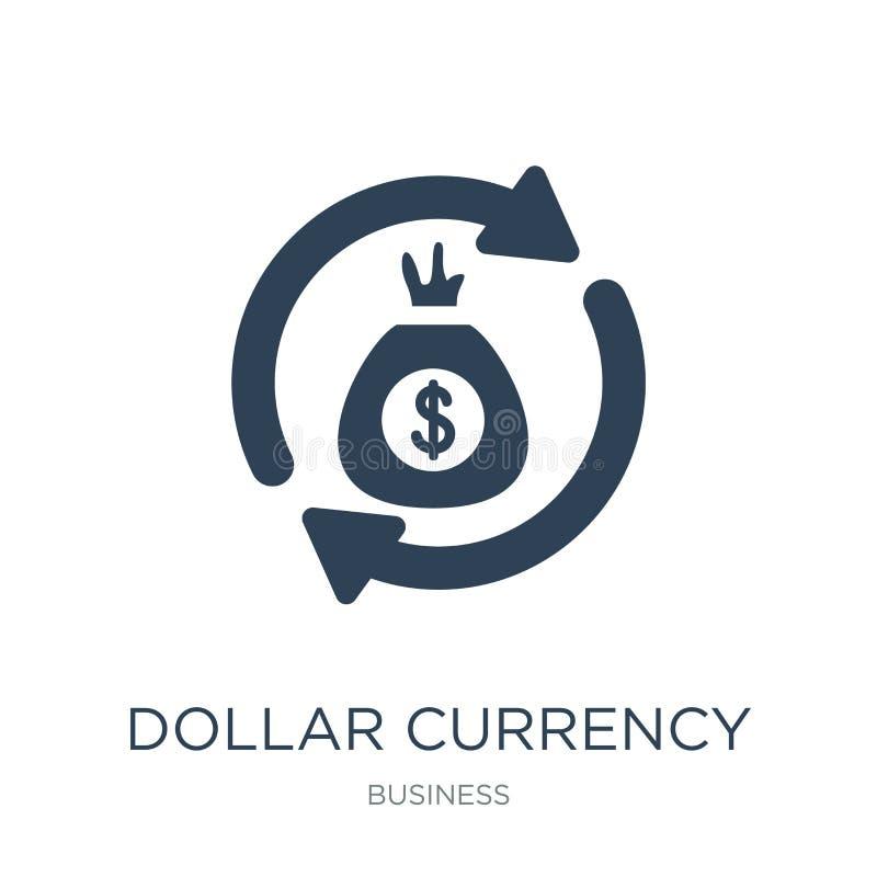 icono de la moneda del dólar en estilo de moda del diseño icono de la moneda del dólar aislado en el fondo blanco icono del vecto libre illustration