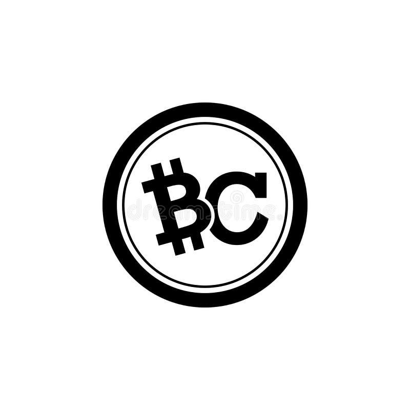 Icono de la moneda del pedazo stock de ilustración