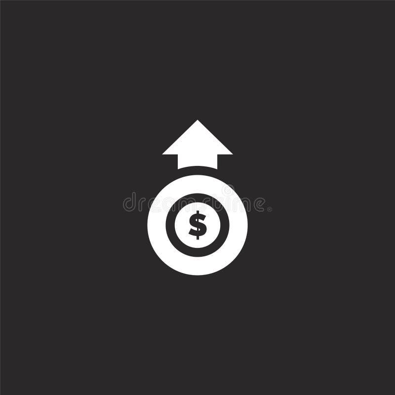 Icono de la moneda Icono llenado de la moneda para el diseño y el móvil, desarrollo de la página web del app icono de la moneda d libre illustration