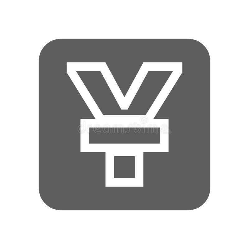 Icono de la moneda de los yenes de Japón libre illustration