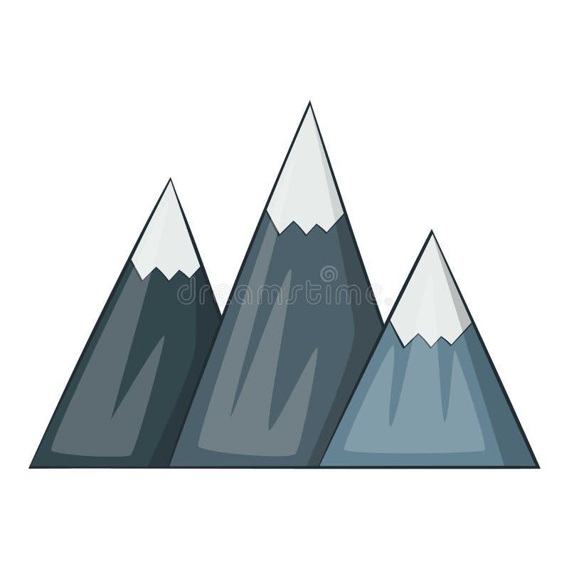 Icono de la montaña, estilo de la historieta stock de ilustración