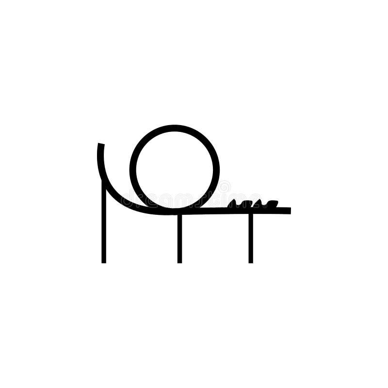 Icono de la montaña rusa Apps del concepto y del web del parque de atracciones de los elementos Icono para el diseño y el desarro ilustración del vector