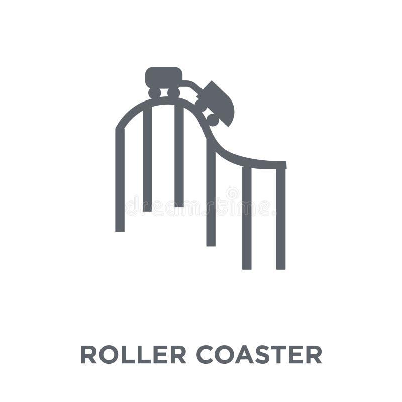 Icono de la montaña rusa de la colección del entretenimiento stock de ilustración