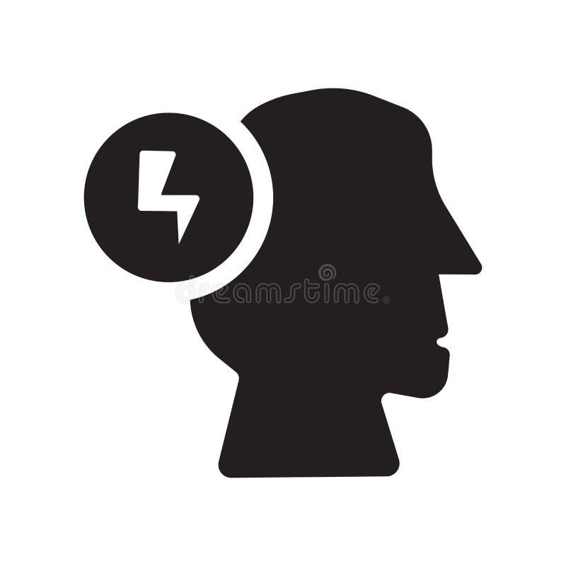 Icono de la motivación Concepto de moda del logotipo de la motivación en el backgro blanco libre illustration