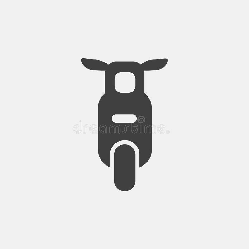 Icono de la motocicleta stock de ilustración