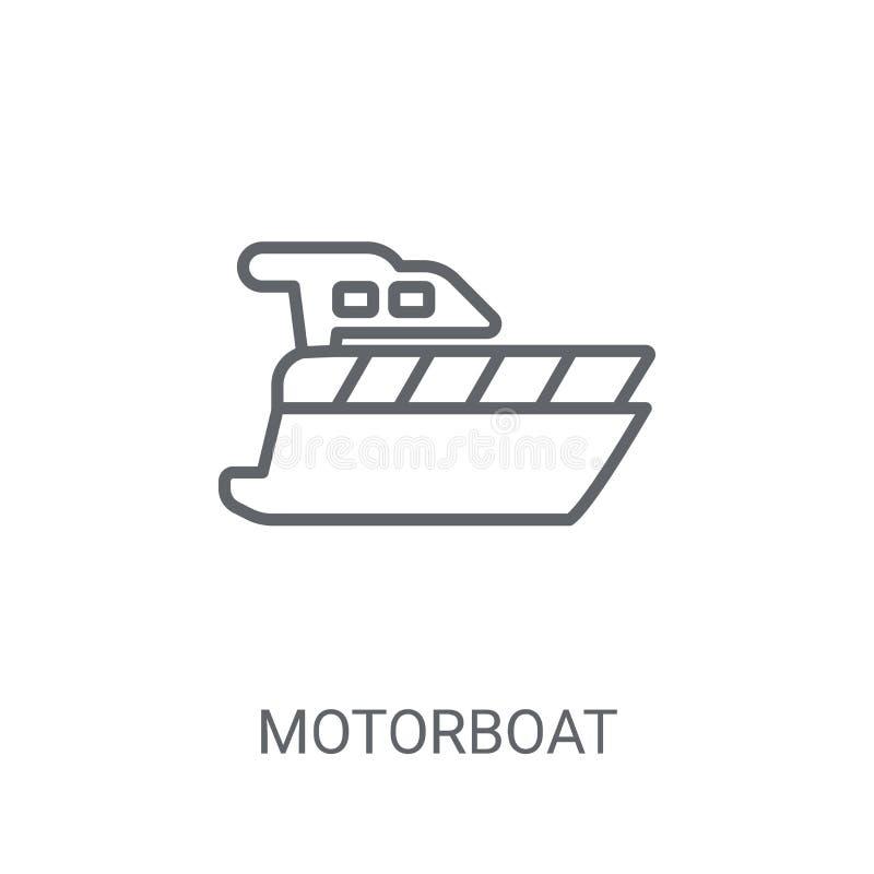 Icono de la motora Concepto de moda del logotipo de la motora en el backgroun blanco stock de ilustración