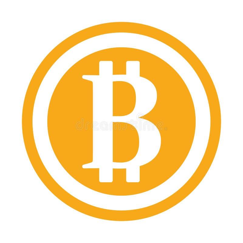 Icono de la muestra de Bitcoin para el dinero de Internet S?mbolo de moneda e imagen Crypto de la moneda para usar en proyectos W stock de ilustración