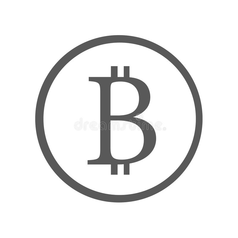 Icono de la muestra de Bitcoin simple libre illustration