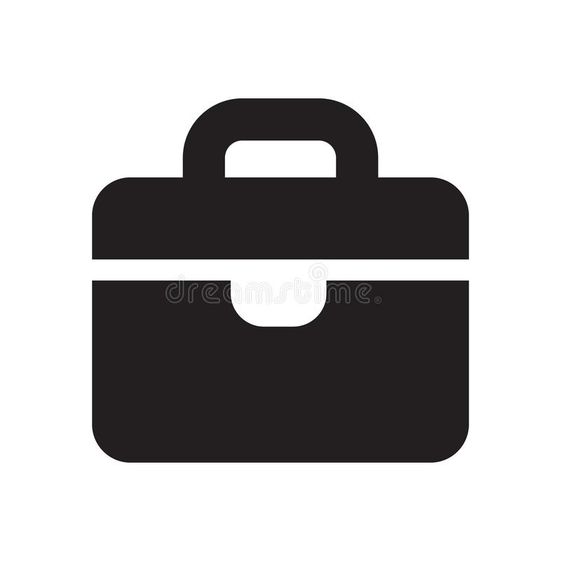 Icono de la muestra de la cartera en estilo plano Ejemplo del vector de la maleta en el fondo aislado blanco Concepto del negocio libre illustration
