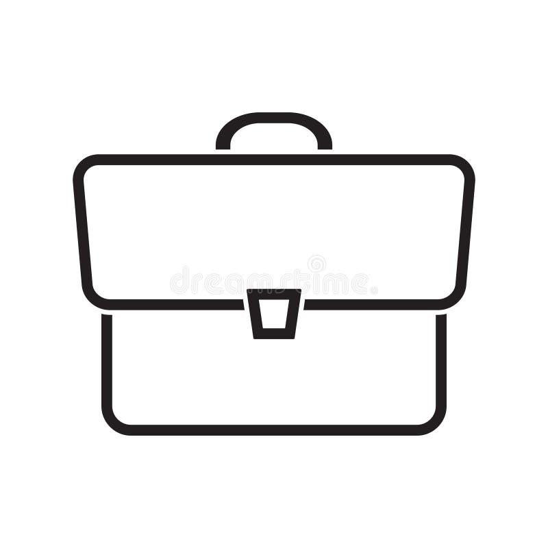 Icono de la muestra de la cartera en estilo plano Ejemplo del vector de la maleta en el fondo aislado blanco Concepto del negocio stock de ilustración