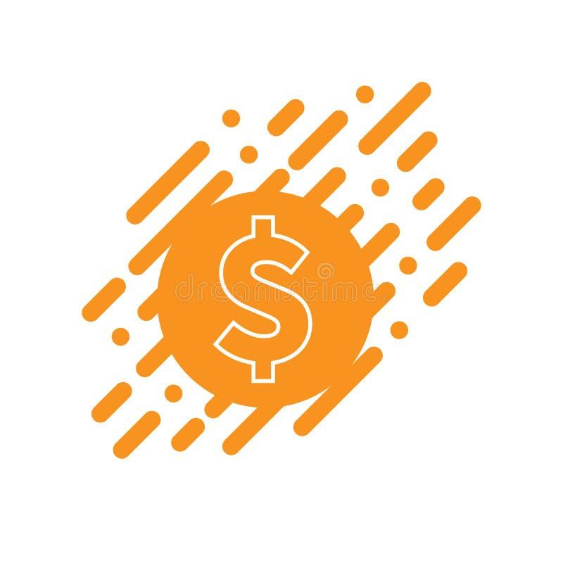 Icono de la muestra de dólar del vector, concepto plano ilustración del vector