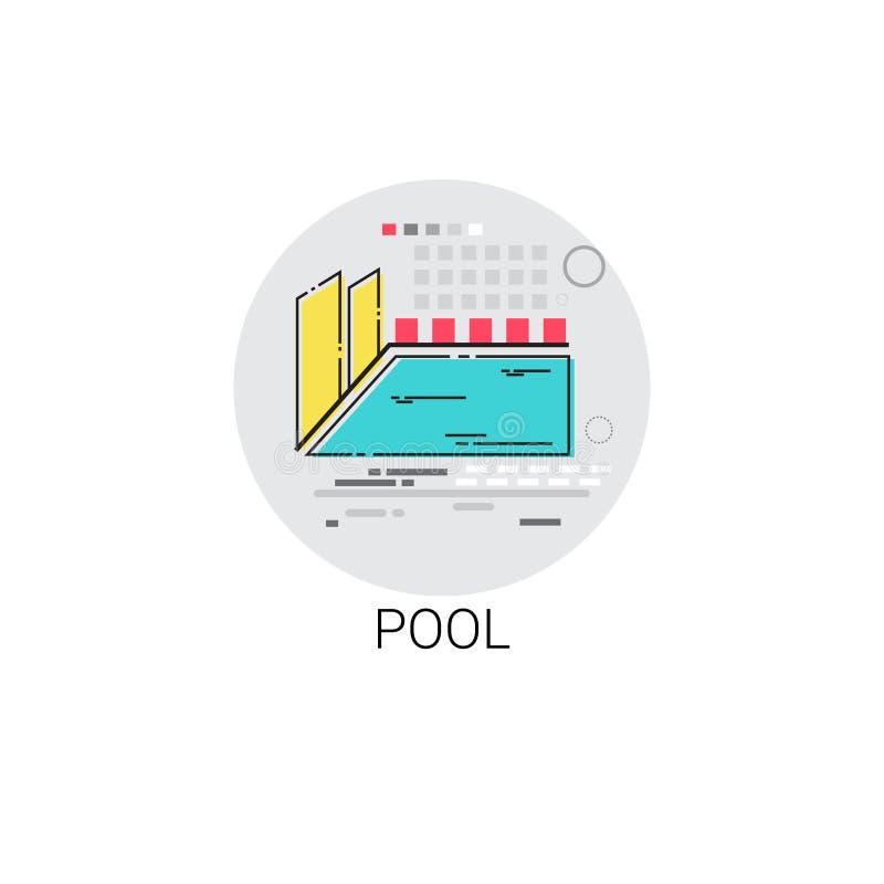 Icono de la muestra de la actividad de agua de la piscina libre illustration