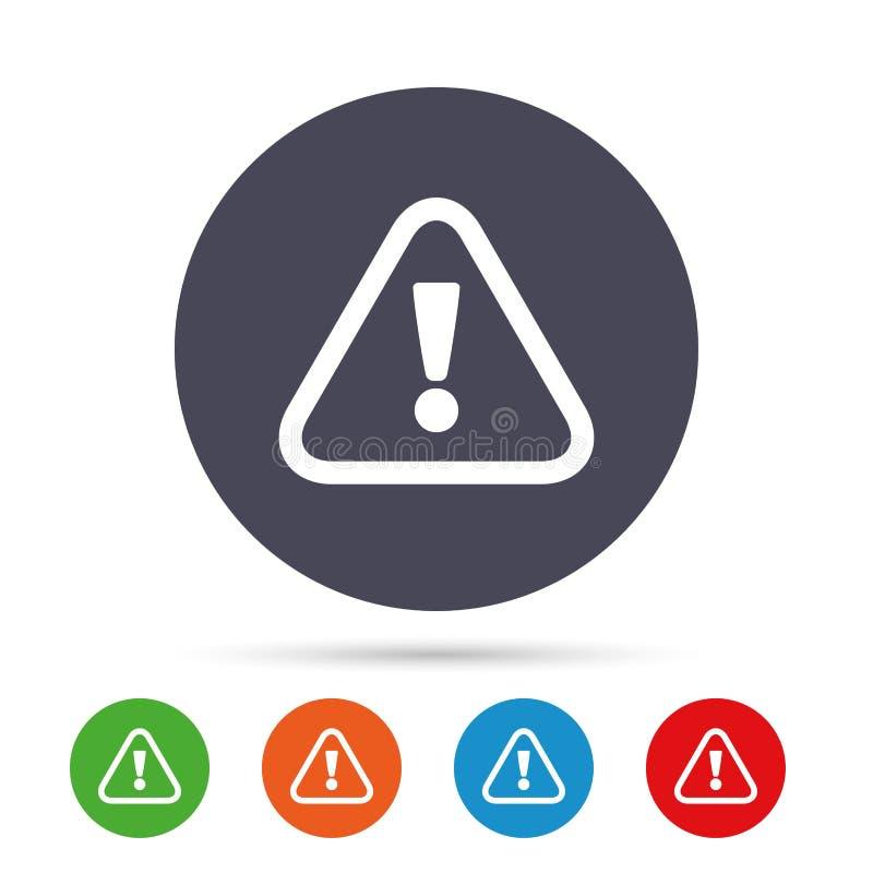 Icono de la muestra de la atención Marca de exclamación stock de ilustración