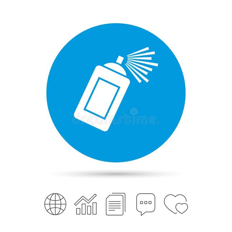 Icono de la muestra de la poder de espray de la pintada Pintura del aerosol ilustración del vector