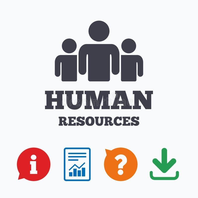 Icono de la muestra de los recursos humanos Símbolo de la hora ilustración del vector