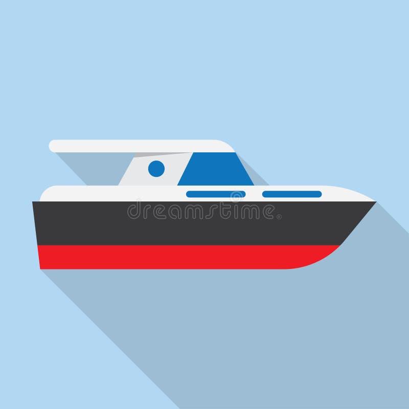 Icono de la muestra del barco del yate libre illustration
