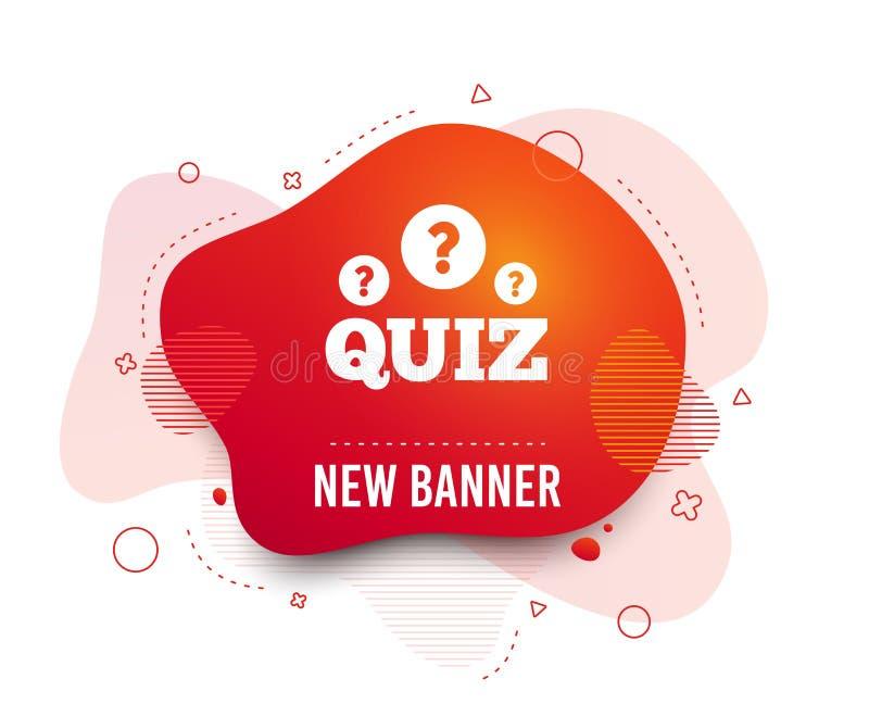 Icono de la muestra del concurso Juego de las preguntas y de las respuestas Vector stock de ilustración