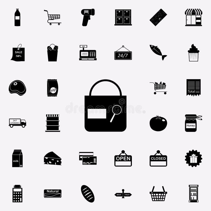 icono de la muestra del control del bolso comercialice el sistema universal de los iconos para el web y el móvil libre illustration