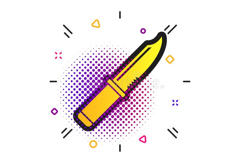 Icono de la muestra del cuchillo S?mbolo afilado de las armas Vector libre illustration