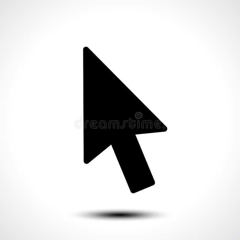 Icono de la muestra del cursor del ratón stock de ilustración