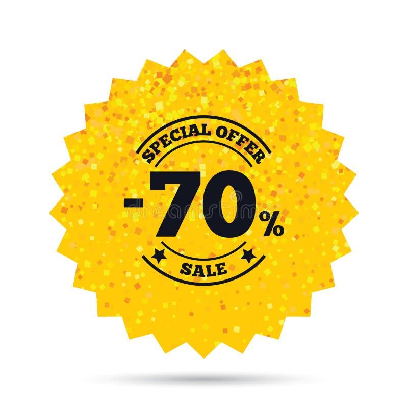 icono de la muestra del descuento del 70 por ciento Símbolo de la venta stock de ilustración