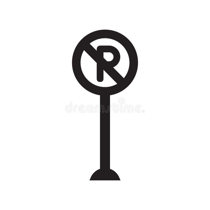 Icono de la muestra del estacionamiento prohibido  libre illustration
