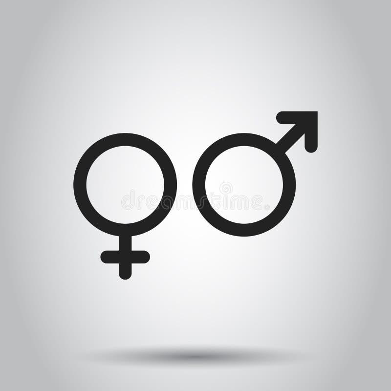 Icono de la muestra del género Ejemplo del vector en fondo aislado BU libre illustration