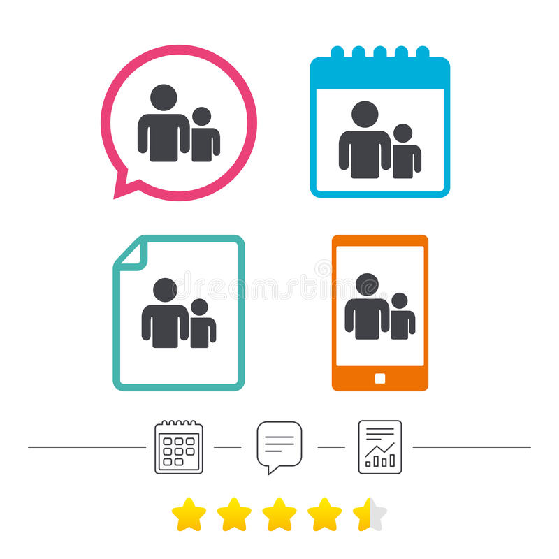 Icono de la muestra del grupo de personas Símbolo de la parte libre illustration