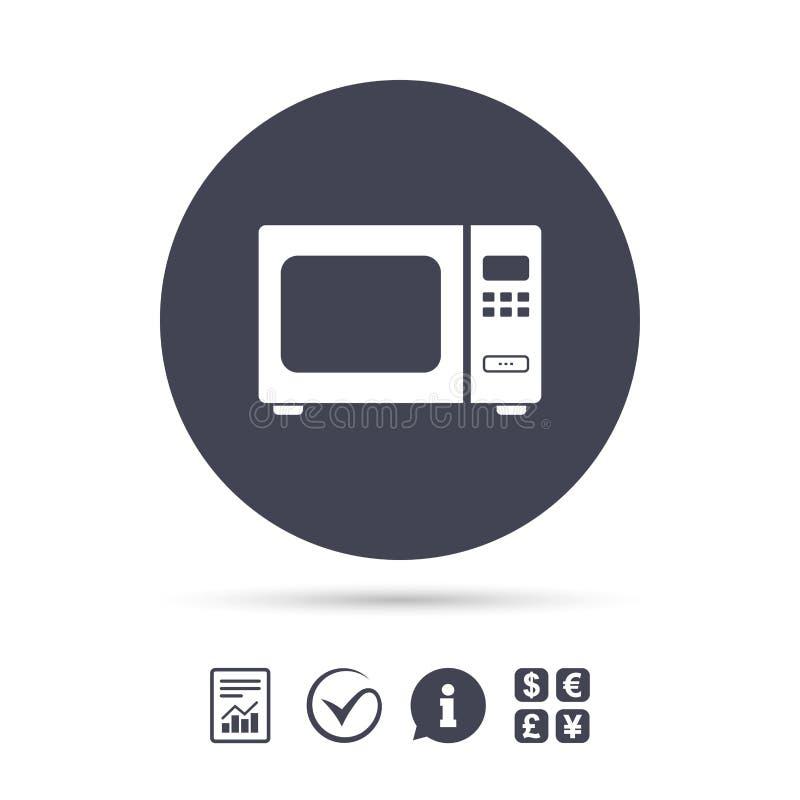 Icono de la muestra del horno de microondas Estufa eléctrica de la cocina ilustración del vector