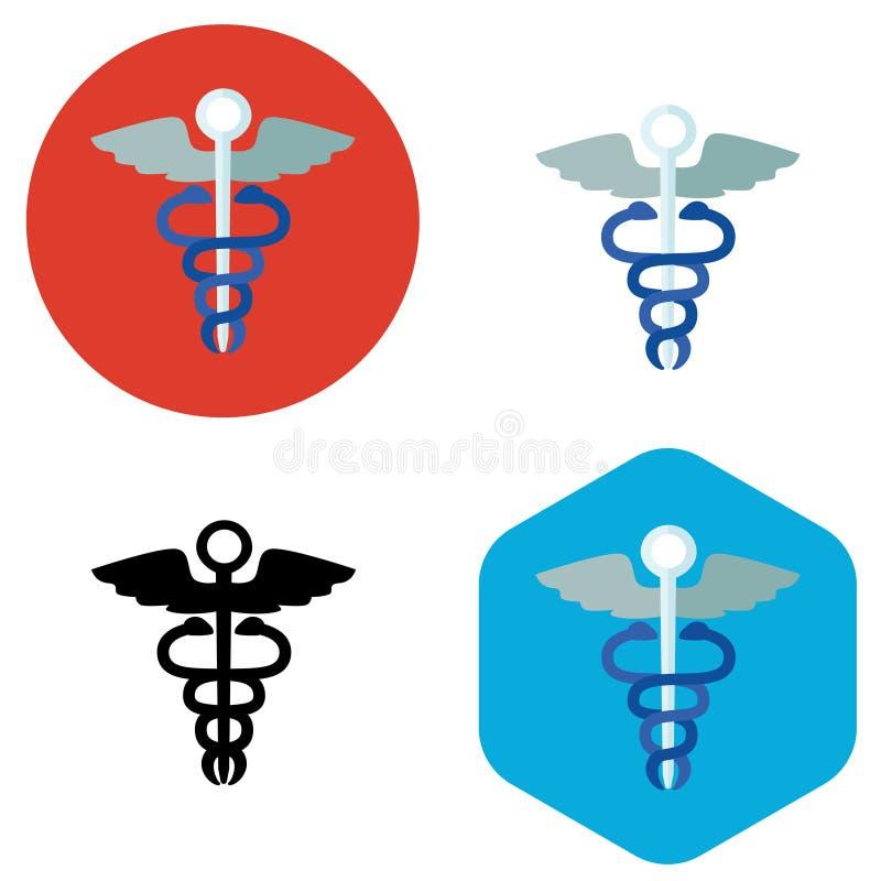 Icono de la muestra del hospital ilustración del vector