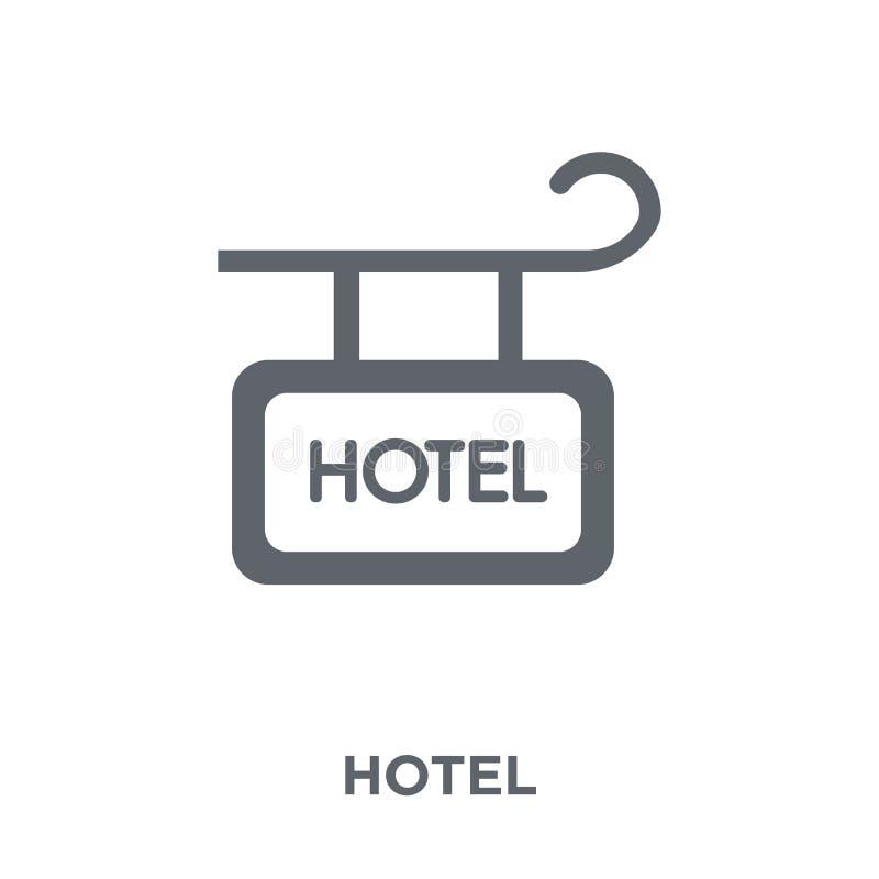 Icono de la muestra del hotel de la colección del hotel stock de ilustración