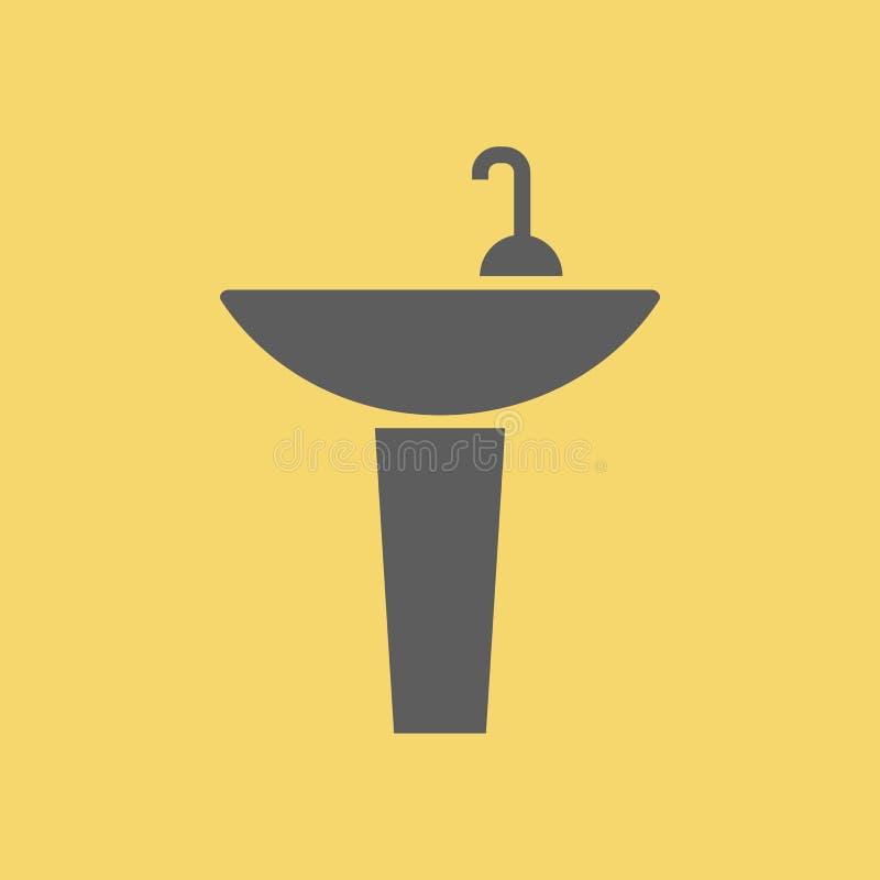 Icono de la muestra del lavabo ilustración del vector