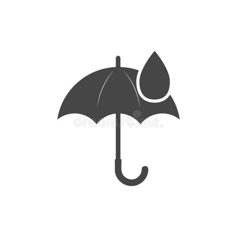 Icono de la muestra del paraguas Símbolo del descenso del agua libre illustration