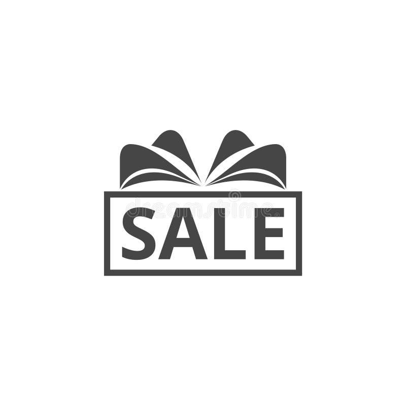 Icono de la muestra del regalo de la venta Símbolo de la oferta especial ilustración del vector