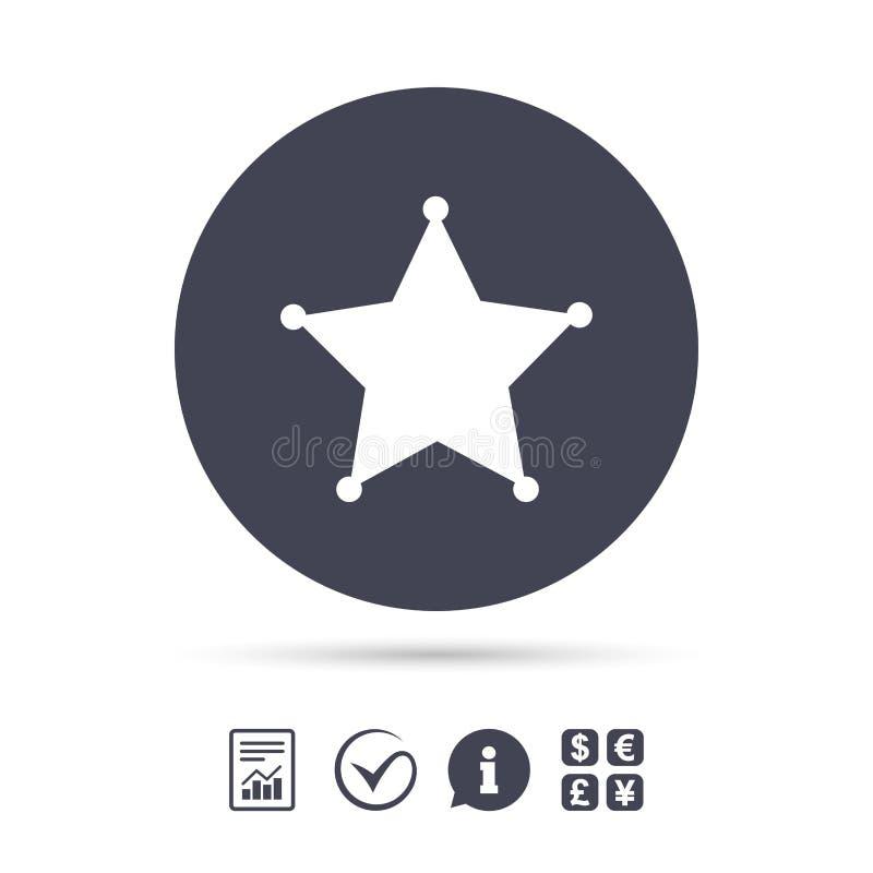 Icono de la muestra del sheriff de la estrella La policía abotona libre illustration