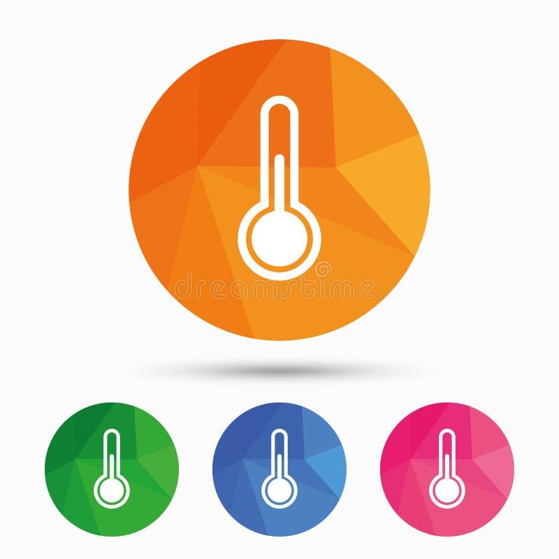 Icono de la muestra del termómetro Símbolo de la temperatura ilustración del vector