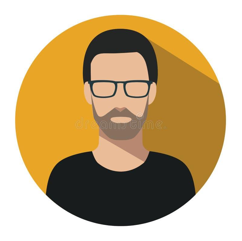 Icono de la muestra del usuario Símbolo de la persona Avatar humano ilustración del vector