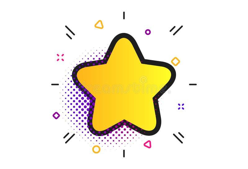 Icono de la muestra de la estrella. Bot?n preferido. nearsighted. Vector ilustración del vector