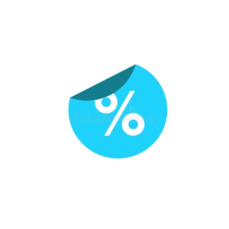 Icono de la muestra de la etiqueta engomada del descuento del por ciento Símbolo de la venta Etiqueta de la oferta especial Etiqu libre illustration