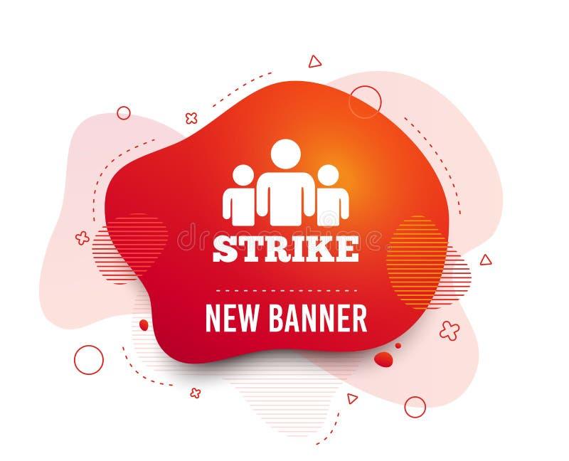 Icono de la muestra de la huelga S?mbolo del grupo de personas Vector stock de ilustración