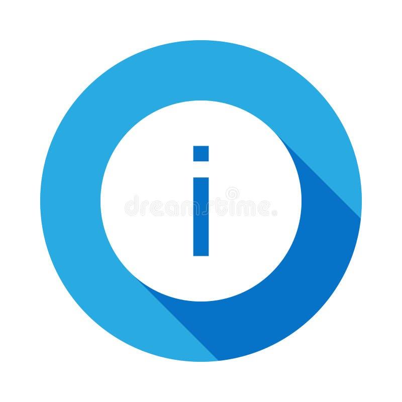 icono de la muestra de la informaci?n con la sombra larga Elemento de los iconos del web Icono superior del dise?o gr?fico de la  fotos de archivo libres de regalías