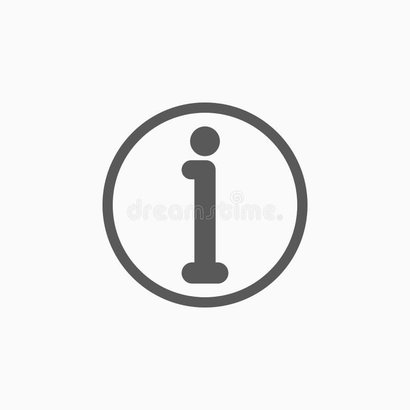 Icono de la muestra de la información, información, puesto de informaciones stock de ilustración