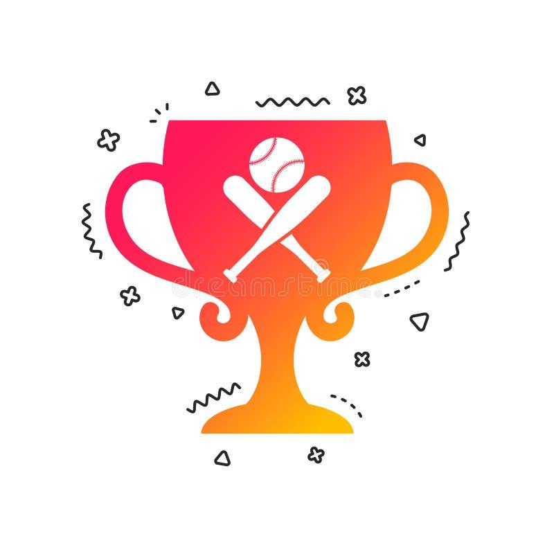 Icono de la muestra de los bates de béisbol Símbolo del deporte Vector ilustración del vector