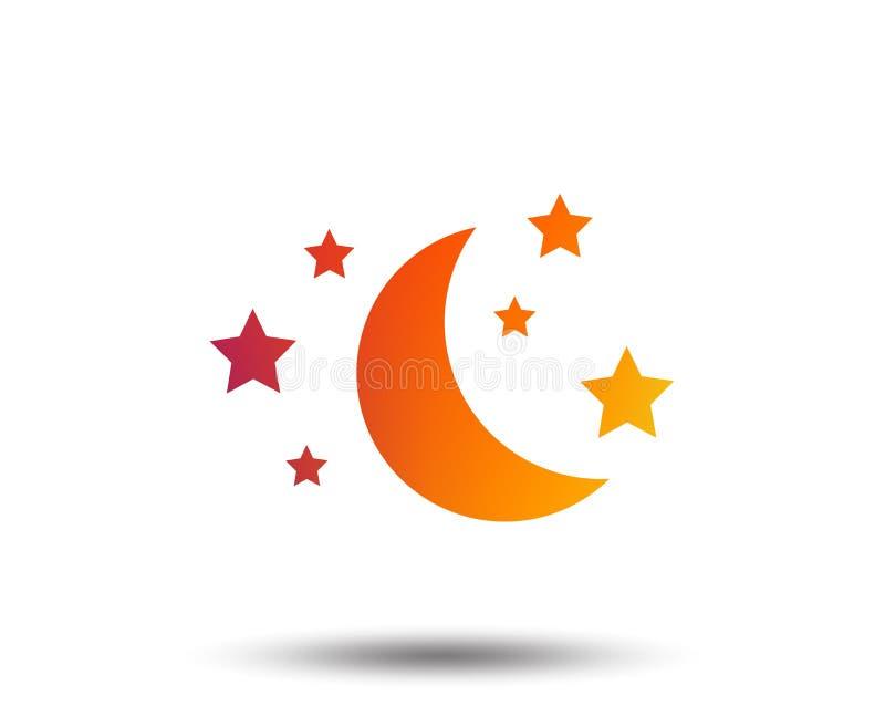 Icono de la muestra de la luna y de las estrellas El sueño sueña símbolo libre illustration