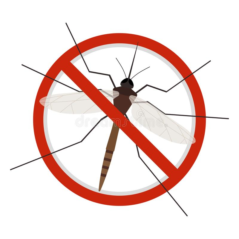 Icono de la muestra de la parada del mosquito libre illustration
